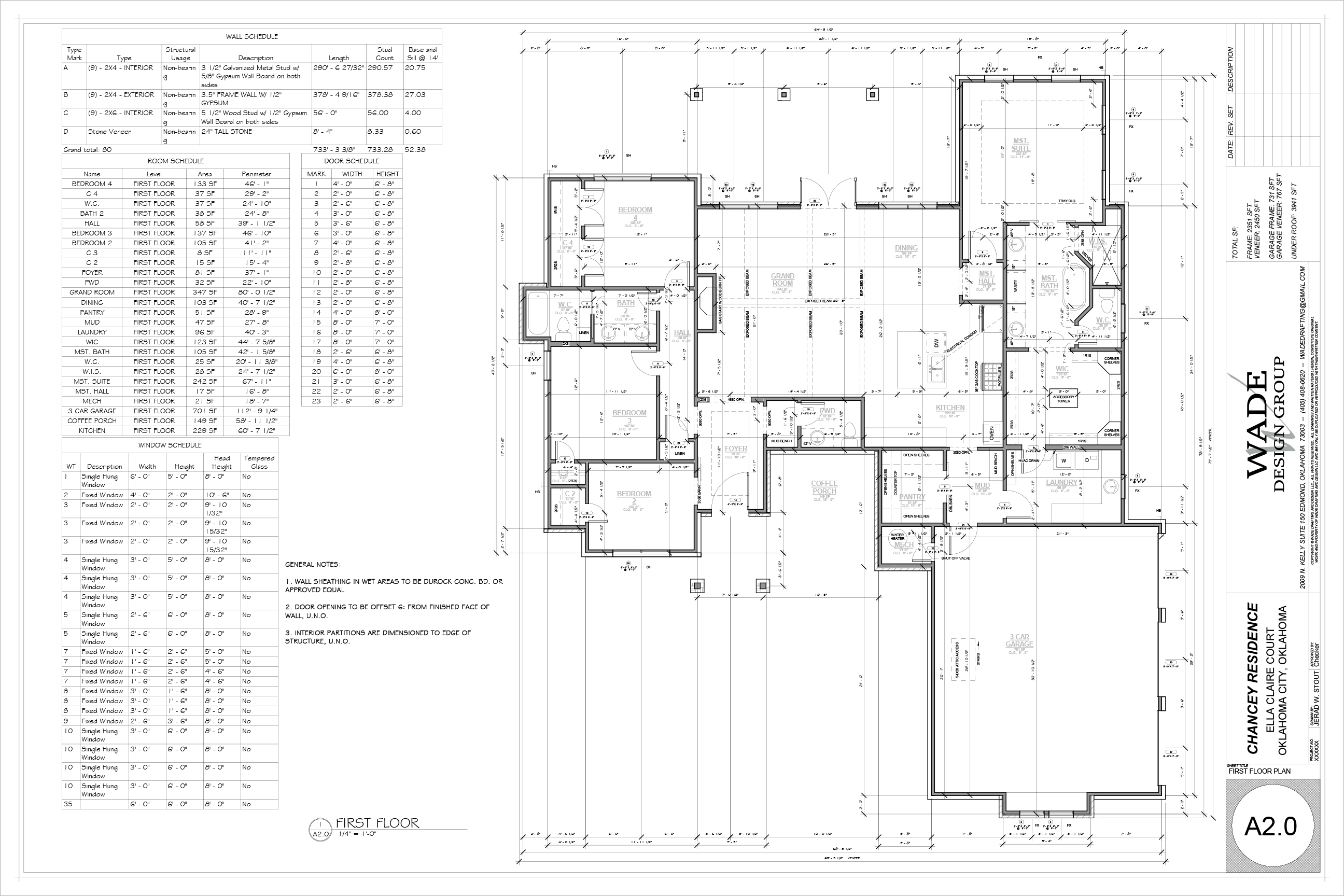 2350 Farmhouse Floorplan
